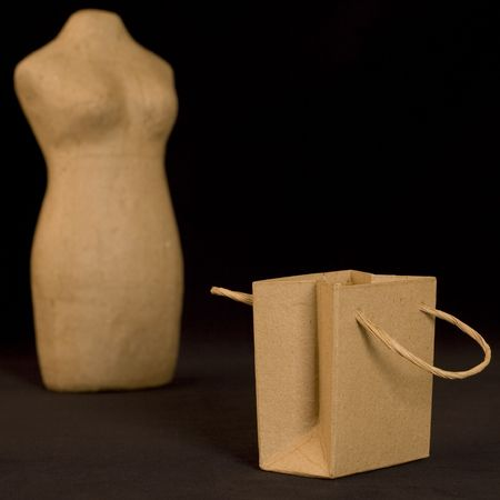 mannequin and paper bag photo