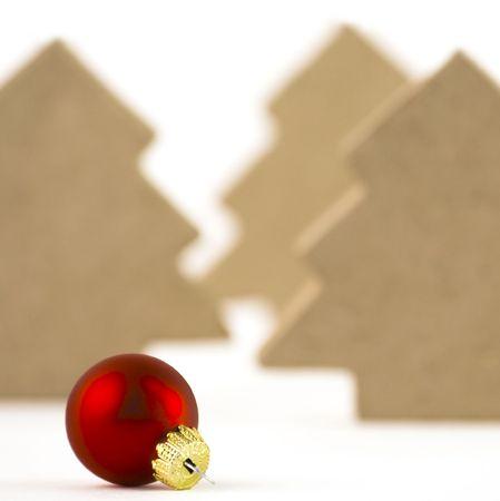 Christmas ball, xmas trees, isolated on a white background photo