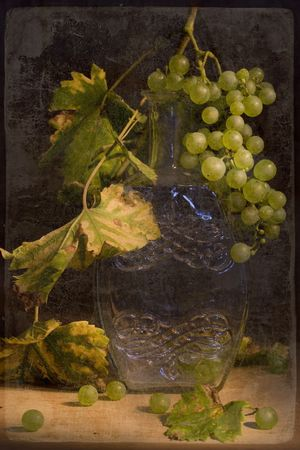 Autumn grape. Studio still life. Photo based mixed medium image.  Stock Photo - 3672101