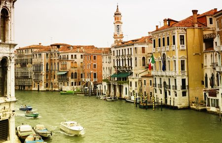 favorite colour: Venice. View from a Bridge. Italy. Stock Photo