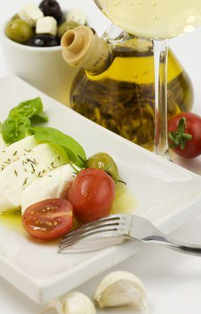 italian tomato mozarella close up Stock Photo - 5392287