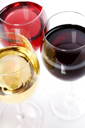 Wine collection - Rose, White and Red wine. Stock Photo - 8005426