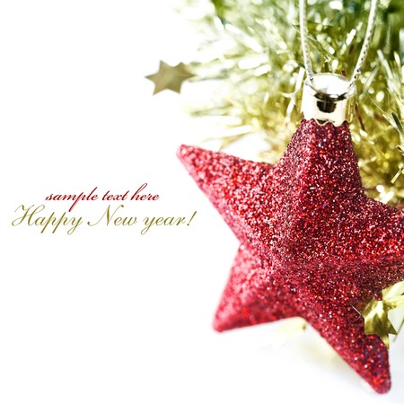 sample text: Bright christmas composition with sample text
