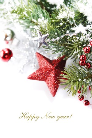 Bright christmas composition with stars and sample text Stock Photo - 8081857
