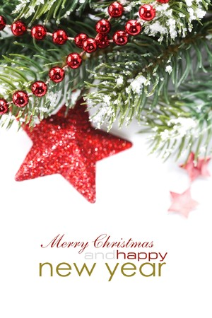 Bright christmas composition with stars and sample text Stock Photo - 8165855