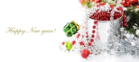 Bright christmas composition with sample text photo