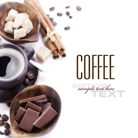 caffeine: Coffee, chocolate, brown sugar and cinnamon (with sample text)