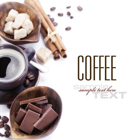 arabic coffee: Coffee, chocolate, brown sugar and cinnamon (with sample text)