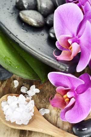 Spa Settings (zen stones, sea salt and orchid)  photo