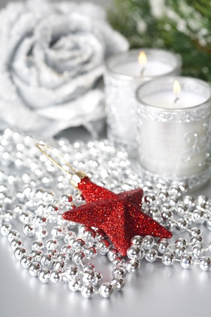 Bright christmas composition with star photo