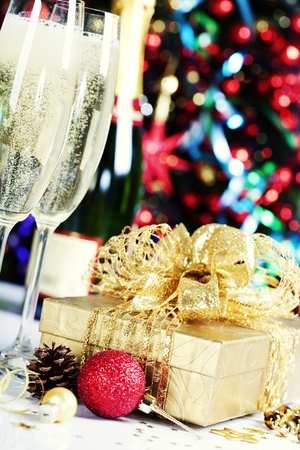 Christmas decoration on Christmas tree background Stock Photo - 11600829