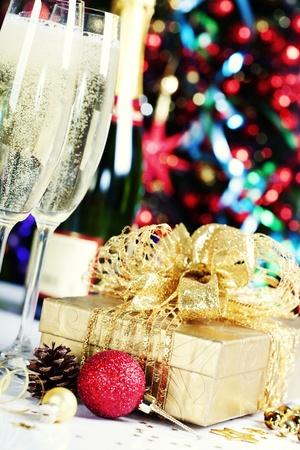 Christmas decoration on Christmas tree background Stock Photo - 11600829