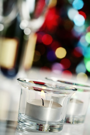Candles on Christmas tree background Stock Photo - 11600825