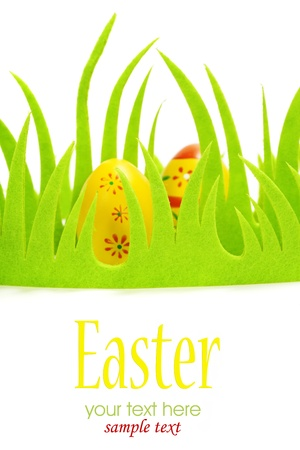 Easter eggs and  Green Grass Stock Photo - 12634480