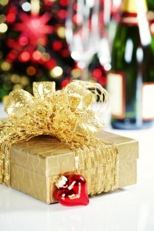 Christmas decoration on Christmas tree background Stock Photo - 15882253