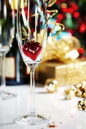 Christmas decoration on Christmas tree background Stock Photo - 16827039
