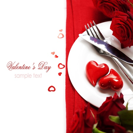 valentine s card: hearts on a plate. Love, harmony and Valentines day concept (with sample text)