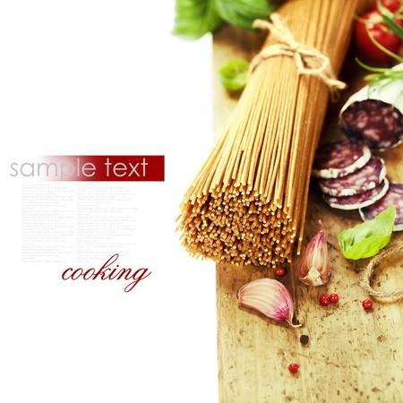spaghetti: volkoren spaghetti met ingrediënten