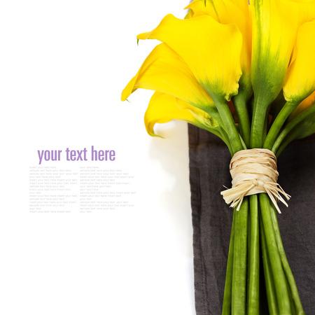 calla lily: Beautiful Calla Lilly  Bouquet (wedding or romantic date concept ) Stock Photo