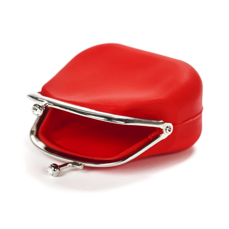 red purse: Empty Red purse on white background