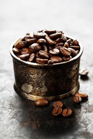 jamoke: Coffee on grunge dark background