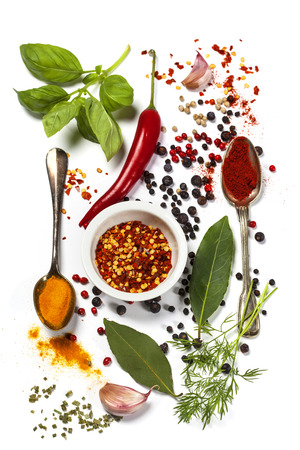 Herbs and spices selection, close up Imagens