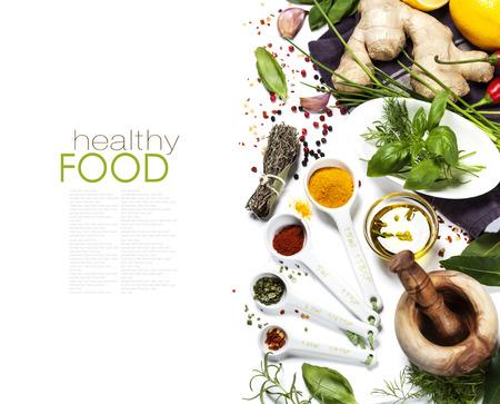 Gyógynövények és fűszerek kiválasztása, közelről (könnyen eltávolítható minta szöveg)