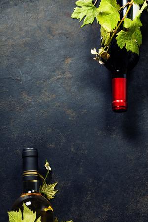 ワインとブドウ食品背景。コピー スペースがたくさん。