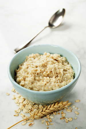 Bowl of Homemade Healthy oatmeal porridge -  diet food