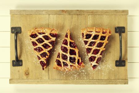 fruit tart: Pieces of fresh fruit tart