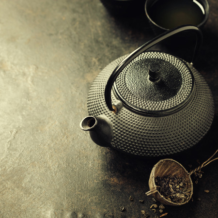 sparce: Teapot on vintage background