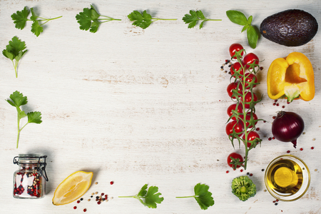 diet dinner: Food. Food background. Food health. Food eat. Food vegan. Food diet. Food concept. Food dinner. Food lunch. Food meal. Food fresh. Food life. Food natural. Food organic. Food clean. Frame, Flat lay, overhead Stock Photo