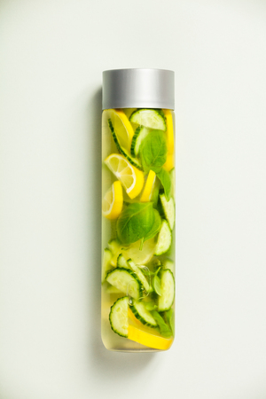Infused water-vertical composition