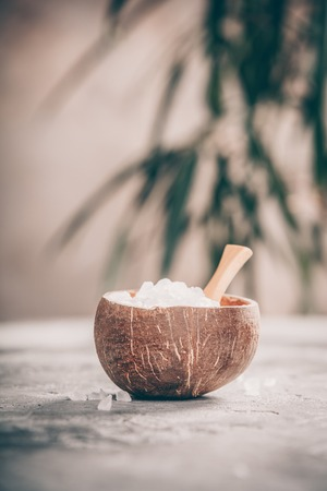 Spa composition with Sea Salt Stock Photo