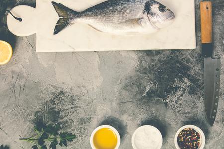 Delicious fresh sea bream fish Stock Photo