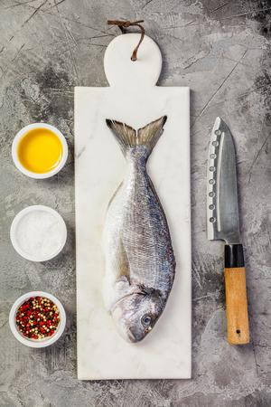 Delicious fresh sea bream fish Standard-Bild
