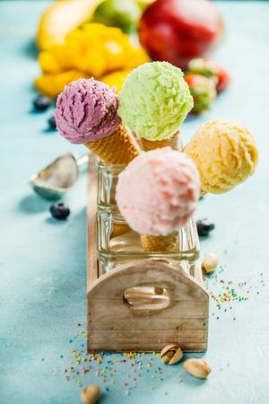 Variedad de helados Foto de archivo
