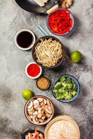 Ingrédients de la cuisine asiatique Banque d'images - 106485897