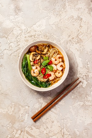 Asian soup with noodles