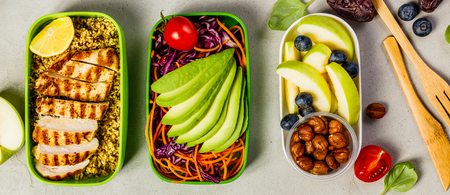 Gezonde lunch in dozen Stockfoto