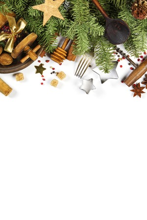 Christmas cooking background - space for your text Imagens