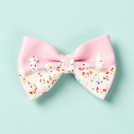 Cute hair bow on bright