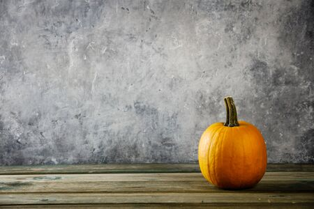 Autumn background with pumpkin Stock Photo