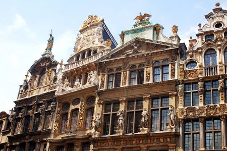 Grand place Brussels buildings Stock Photo