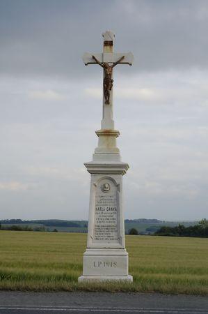 marple: jesus statue in czech republic Stock Photo