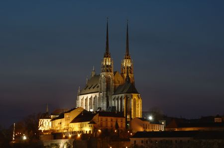 Peter and Paul cathedral in Brno Stock Photo