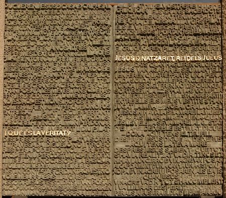 letters on sagrada familia door