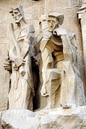 detail of sagrada familia sculpture