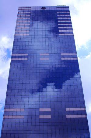 Blue skyscraper in Brussels centre