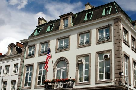 USA embassy in Brussels in Belgium Stock Photo